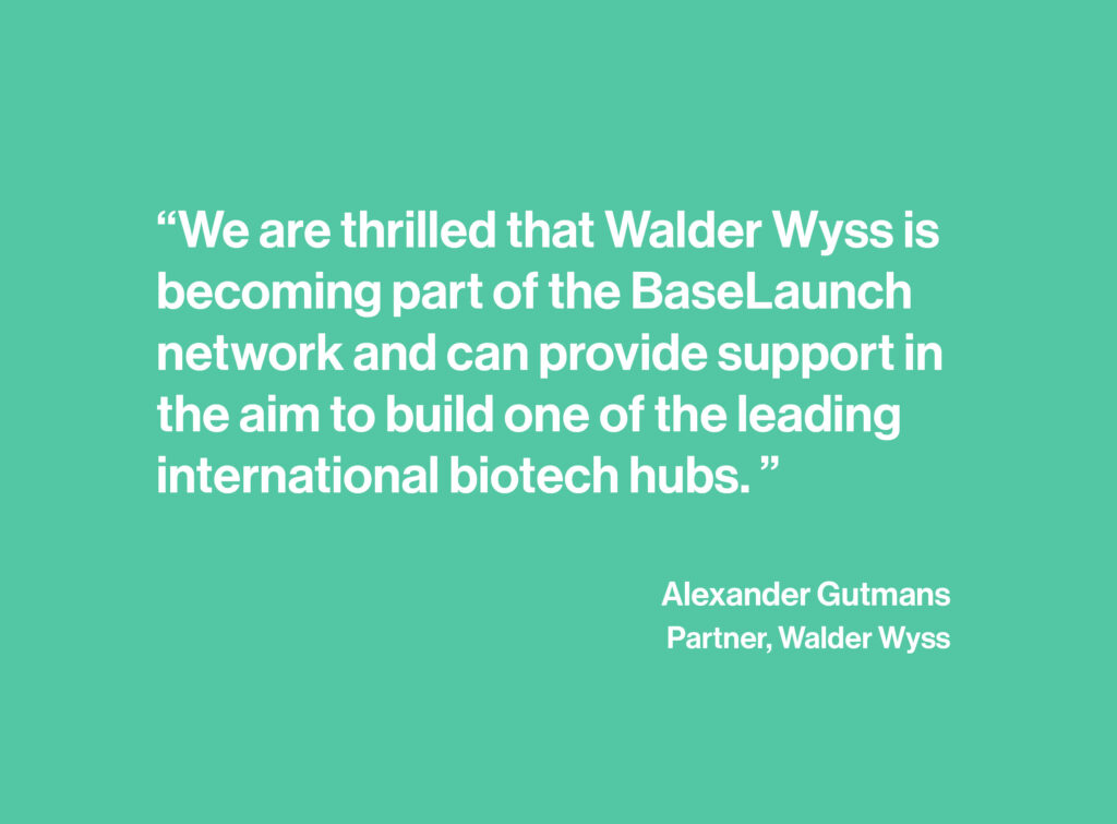 Quote from Walder Wyss partner on BaseLaunch partnership