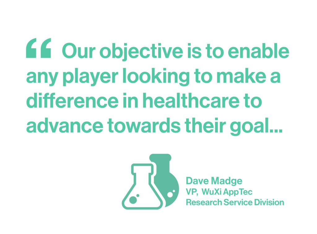 Our objective is to enable any player looking to make a difference in healthcare to advance towards their goal...